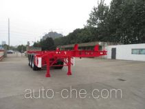 CIMC Tonghua THT9401TWYA dangerous goods tank container skeletal trailer