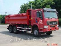 Bulk powder sealed dump truck