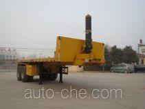 亚中车辆牌WPZ9350ZZXP型平板自卸半挂车
