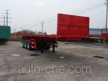 亚中车辆牌WPZ9403ZZXP型平板自卸半挂车