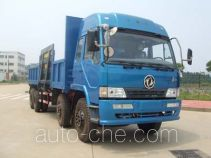 Side lift self loading dump truck