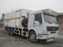 Frestech XKC5257THZB3 explosive mixture and charges transport truck