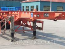 路飞牌YFZ9400TWY型危险品罐箱骨架运输半挂车