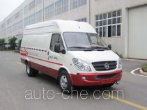 Yuzhou (Jialing) YZ5042XXYF136DD box van truck