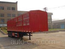 鲁征牌ZBR9400CLX型仓栅式运输半挂车