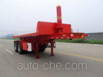 Huajun ZCZ9350ZZXPHJC flatbed dump trailer