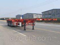 Huajun ZCZ9400TWYHJE dangerous goods tank container skeletal trailer