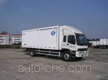 Box van truck with side sliding door