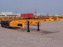 中集牌ZJV9368TJZ型集装箱运输半挂车