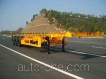 中集牌ZJV9374TJZSZ型集装箱运输半挂车