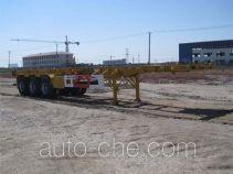 CIMC ZJV9400TWYYK dangerous goods tank container skeletal trailer
