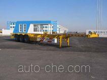 中集牌ZJV9401TJZYK型集装箱运输半挂车