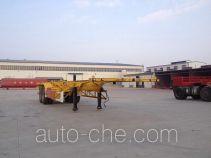 Juwang ZJW9350TWY dangerous goods tank container skeletal trailer