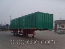 Juwang ZJW9350XXY box body van trailer