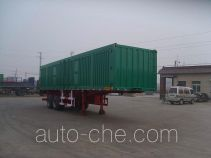 Juwang ZJW9350XXY box body van trailer