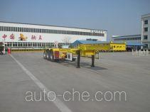 Juwang ZJW9400TWY dangerous goods tank container skeletal trailer