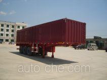 Juwang ZJW9406XXY box body van trailer