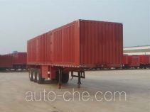 Juwang box body van trailer