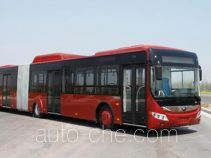 Hybrid articulated city bus