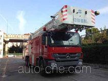 Aerial ladder fire truck