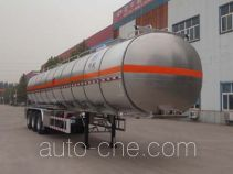 Minghang ZPS9403GRY flammable liquid aluminum tank trailer