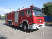 Dry powder and foam combined fire engine