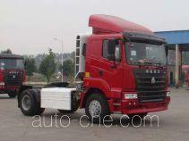 豪运牌ZZ4185N3815C1CZ型集装箱半挂牵引汽车
