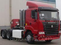豪运牌ZZ4255M3845C1CZ型集装箱半挂牵引汽车