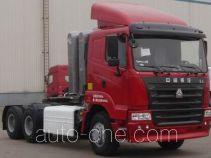 豪运牌ZZ4255N3845C1CZ型集装箱半挂牵引汽车