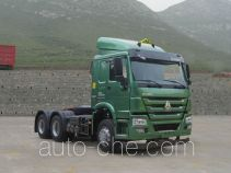 Sinotruk Howo ZZ4257N3237D1W dangerous goods transport tractor unit