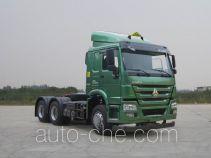 Sinotruk Howo ZZ4257N3247D1W dangerous goods transport tractor unit