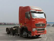 豪沃牌ZZ4257N324HD1Z型集装箱半挂牵引车