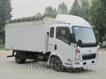 豪泺牌ZZ5047CPYB2813D1Y38型蓬式运输车