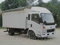 豪泺牌ZZ5047CPYD3415D137型蓬式运输车