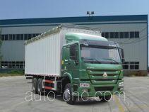 豪泺牌ZZ5257CPYM3847D1型蓬式运输车