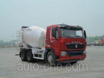 豪沃牌ZZ5257GJBN384HD1型混凝土搅拌运输车