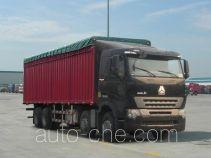 Sinotruk Howo ZZ5317CPYM4667P1H soft top box van truck