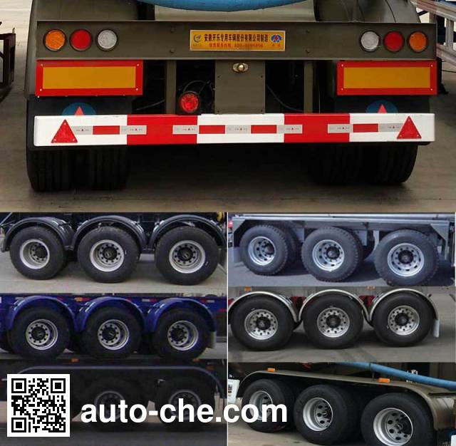 Kaile AKL9400GFLA8 medium density bulk powder transport trailer