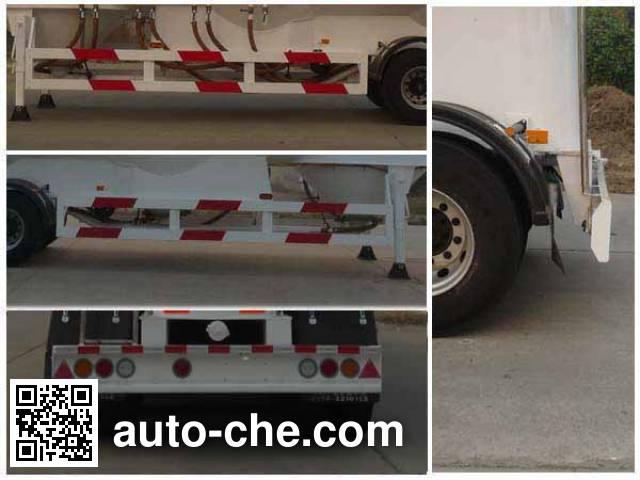 开乐牌AKL9401GFLA1铝合金中密度粉粒物料运输半挂车