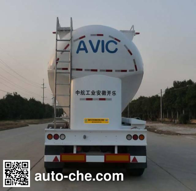开乐牌AKL9401GFLA2铝合金中密度粉粒物料运输半挂车