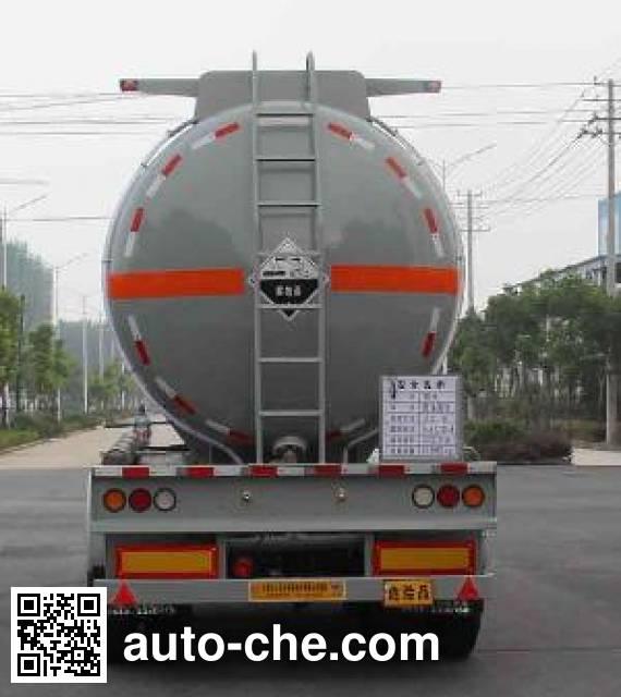 开乐牌AKL9401GFW腐蚀性物品罐式运输半挂车