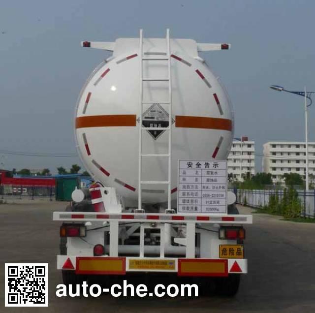 Kaile AKL9404GFW corrosive materials transport tank trailer