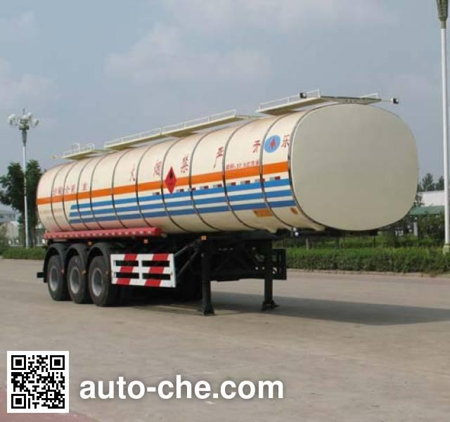 开乐牌AKL9405GRYBW01易燃液体罐式运输半挂车