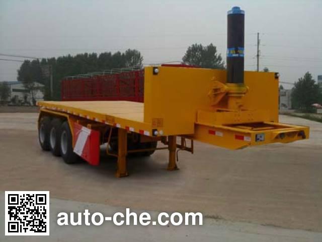 Shengde ATQ9400ZZXP flatbed dump trailer