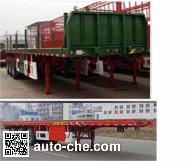 Shengde ATQ9401ZZXP flatbed dump trailer