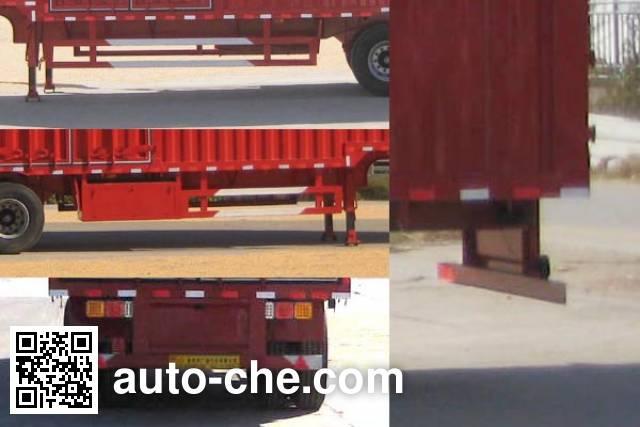 Shengde ATQ9403XXY box body van trailer