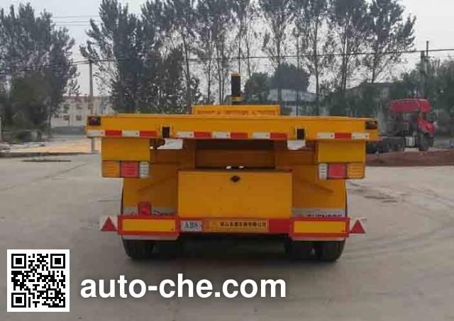 Shengde ATQ9404ZZXP flatbed dump trailer