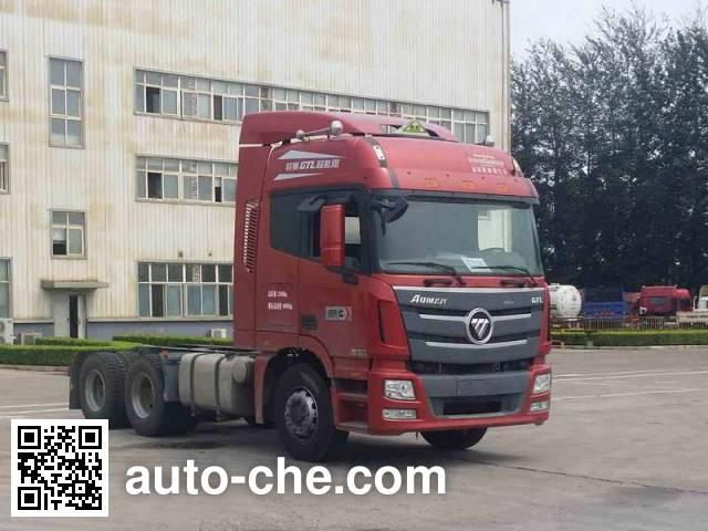 Foton Auman BJ4259SNFKB-AB dangerous goods transport tractor unit