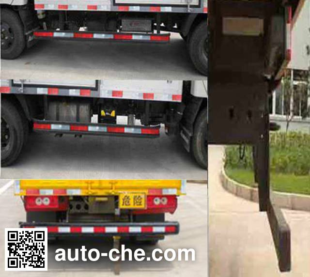 Foton BJ5041XRQ-FA flammable gas transport van truck