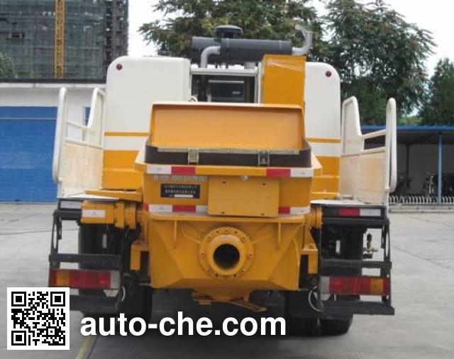 福田牌BJ5124THB车载式混凝土泵车